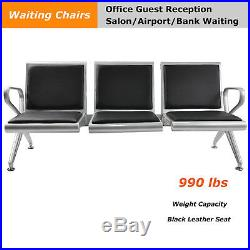 3 Seat Heavy Duty Bench Salon Office Bank Airport Reception Waiting Room Bench