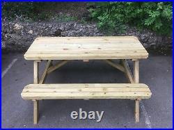 4 x 6 ft Large Wooden duo Picnic bench sets, Heavy duty, assembled, tanalised