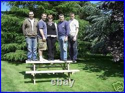4ft Picnic Bench Extra Heavy Duty Redwood (wide Seat) Garden Table