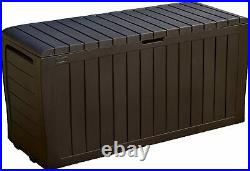 71G Large Outdoor Storage Box Heavy Duty Garden Pool Deck Bench Patio 2 Day Ship