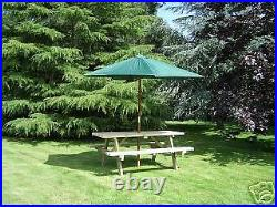 7ft Picnic Bench Extra Heavy Duty Redwood Garden Table
