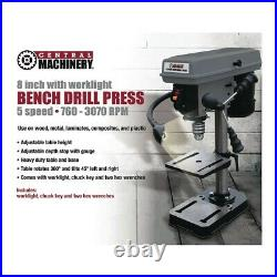 8 in. 5 Speed Bench Drill Press Table Mount Shop Home USA SELLER