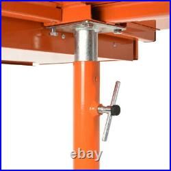 Adjustable Rolling Heavy Duty Work Table Bench Tool Cart Tray wheels 200 lbs