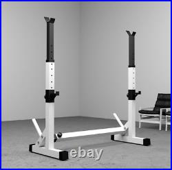 Adjustable Squat Rack Heavy Duty Weight Lifting Bench Press Stand Home Gym