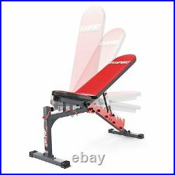 Adjustable Weight Bench with Stands Squats Press Heavy Duty Weight Lifting Gym