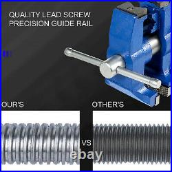 Bench Vise 6 30Kn Heavy Duty with 360° Swivel Base and Head Two Clamping Jaws