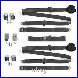 Chevy Bel Air 1955 1957 std 3pt CH Bench Seat Kit withBrackets 3 Belts