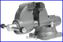 Combination Pipe And Bench 4-1/2 Jaw Round Channel Vise with Swivel 28826