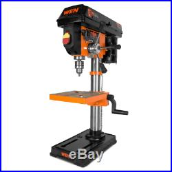 DRILL PRESS STAND BENCH TOP Speed Tool Variable Chuck Keyed Vise Clamp Workbench