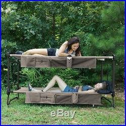 Disc-O-Bed Large Cam-O-Bunk Bench Bunked Double Cot with Organizers (Open Box)