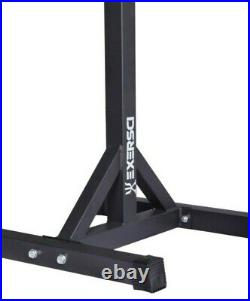Exersci Heavy Duty Squat Rack with Weight Bench Support