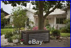 Extra Large Outdoor Storage Box Heavy Duty Garden Pool Deck Bench Chest Lid 165G
