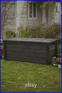 Extra Large Outdoor Storage Box Heavy Duty Swimming Pool Deck Bench Chest With Lid