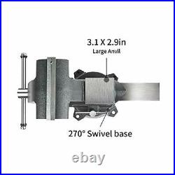 Forward CR60A 6.5-Inch Bench Vise Swivel Base Heavy Duty with Anvil (6 1/2)