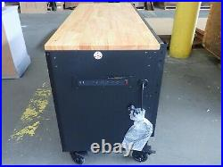 HUSKY HD 61 MOBILE WORKBENCH 61 x 23 HEAVY DUTY 15 DRAWER with SOLID WOOD TOP