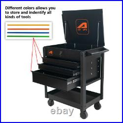 Heavy-Duty 4 Drawers Mobile Service Cart Organizer Tool Box Rolling Tools Chest