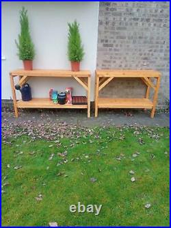 Heavy Duty 5FT (150cm) Greenhouse Potting Bench staging Handcrafted in Suffolk