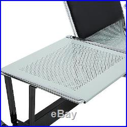 Heavy Duty Office Area Airport Reception Waiting Room Chair with Table Bench 3Seat