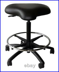 Heavy Duty Tattoo Shop Drafting Chair Stool Workbench Laboratory Rated 350lb S10