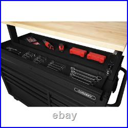 Husky Mobile Workbench 52 in. W 9-Drawer in Matte Black with Adjustable-Height Top