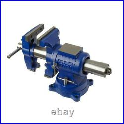 IRWIN 5-in Heavy Duty Steel Vise Clamps Bar Bench Grip With Rotating pipe jaws
