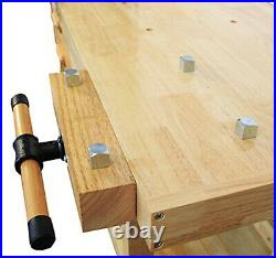 Lumberjack 4 Drawer Heavy Duty Woodworking Bench with 7 Vice & Bottom Storage