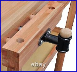 Lumberjack Heavy Duty Solid Wooden Woodworking Work Bench New in UK Drawer Vice