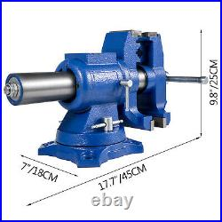 Multipurpose Vise Bench Vise 6-Inch Heavy Duty with 360° Swivel Base and Head
