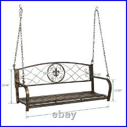 New Outdoor Porch Swing Bench Patio Chair Hanging Seat Yard Furniture Heavy Duty