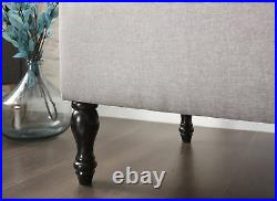 Ottoman Storage Trunk Seat Bench Blanket Toy Large Box Fabric Room Furniture HQ