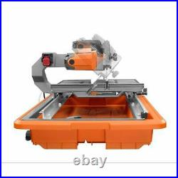 Powerful Heavy Duty 9 Amp Corded 7 in. Wet Tile Saw Aluminum Table with Stand