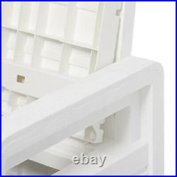 Toomax Foreverspring Deck Storage Box Bench for Outdoor Furniture, White (Used)
