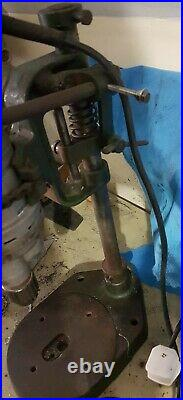 Vintage Heavy Duty WOLF Table Bench Vertical Pillar Drill and Stand Press 5/16