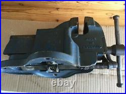 Vintage Record No. 21 Heavy-Duty Quick Release Bench Vice 3 1/4 Jaws -14.8 kg