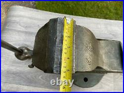 Vintage Record No. 24 Heavy-Duty Quick release Bench Vice Vise, 5 Jaws, 35.5kg