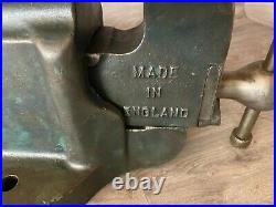 Vintage Record No. 24 Heavy-Duty Quick release Bench Vice Vise, 5 Jaws, 35.6kg