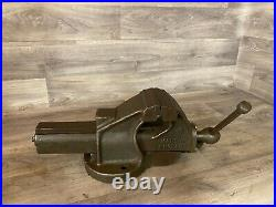Vintage Record No. 34 Engineers Heavy-Duty Quick release Bench Vice 4 Jaws, 16kg