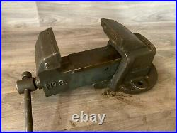 Vintage Record No. 3 Heavy-Duty Bench Vice Vise, modified Jaws 4, 15 kg approx
