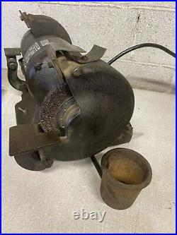 Vintage Stanley 257 Bench Grinder Heavy Duty Cast Iron 1/2hp Single Phase