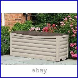 Wheeled Jumbo Patio Chest Deck Storage Box Seat Bench 103 Gal Pool Outdoor NEW